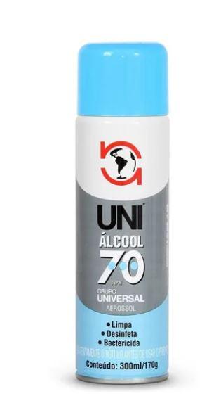 Álcool Aerossol Spray 70% 300ml