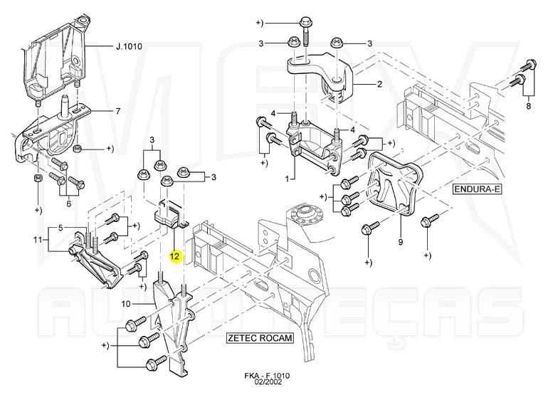 Coxim Suporte Dianteiro do Motor Direito Ka 1999 2000 à 2007 Original Ford