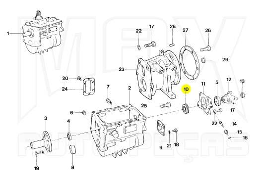 Engrenagem Motriz do Velocímetro F1000 F4000 MWM 1992 1993 à 1998 Original Ford