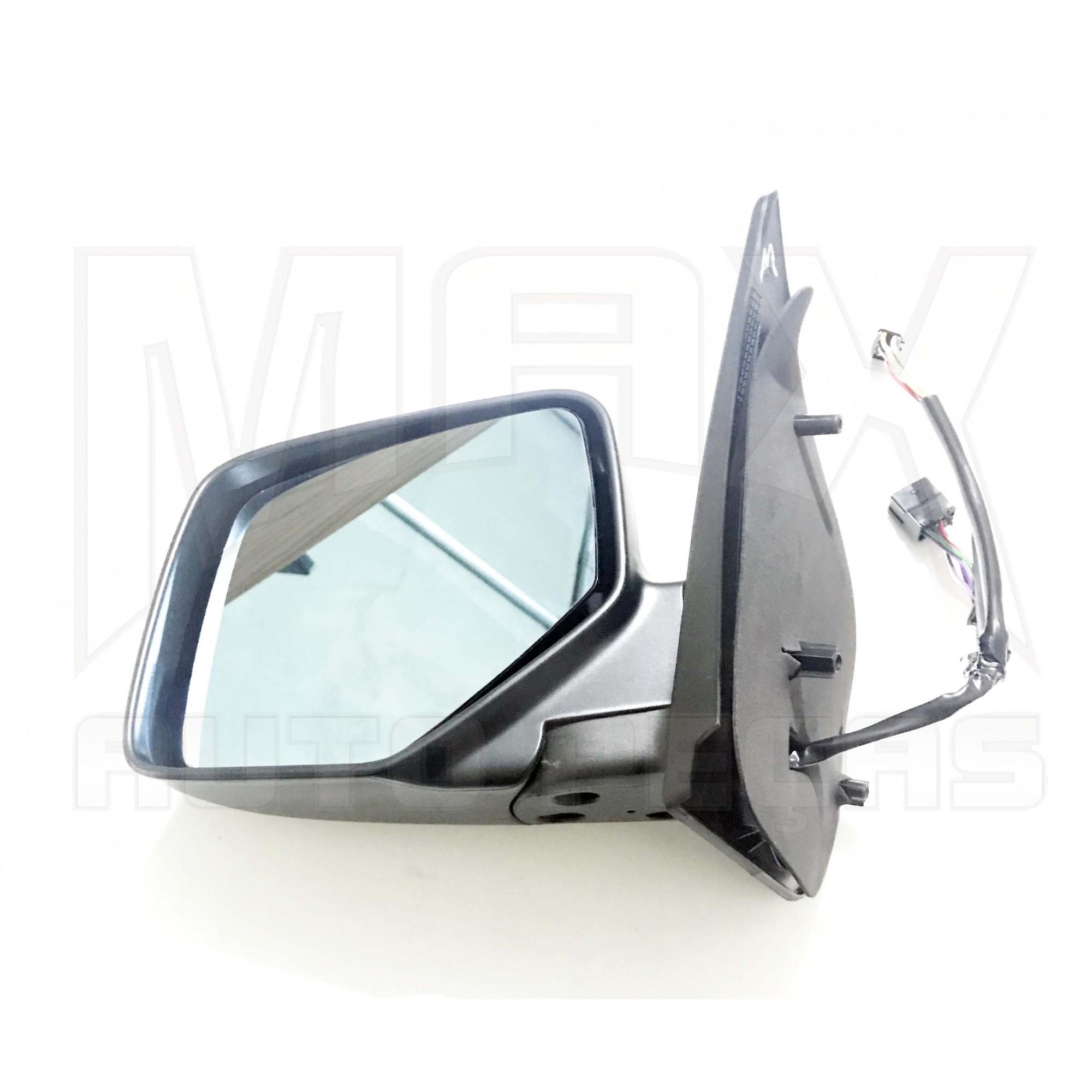 Espelho Retrovisor Externo Esquerdo Com Vidro Azul com Controle Interno Elétrico Ecosport 2005 2006 à 2012 Original Ford