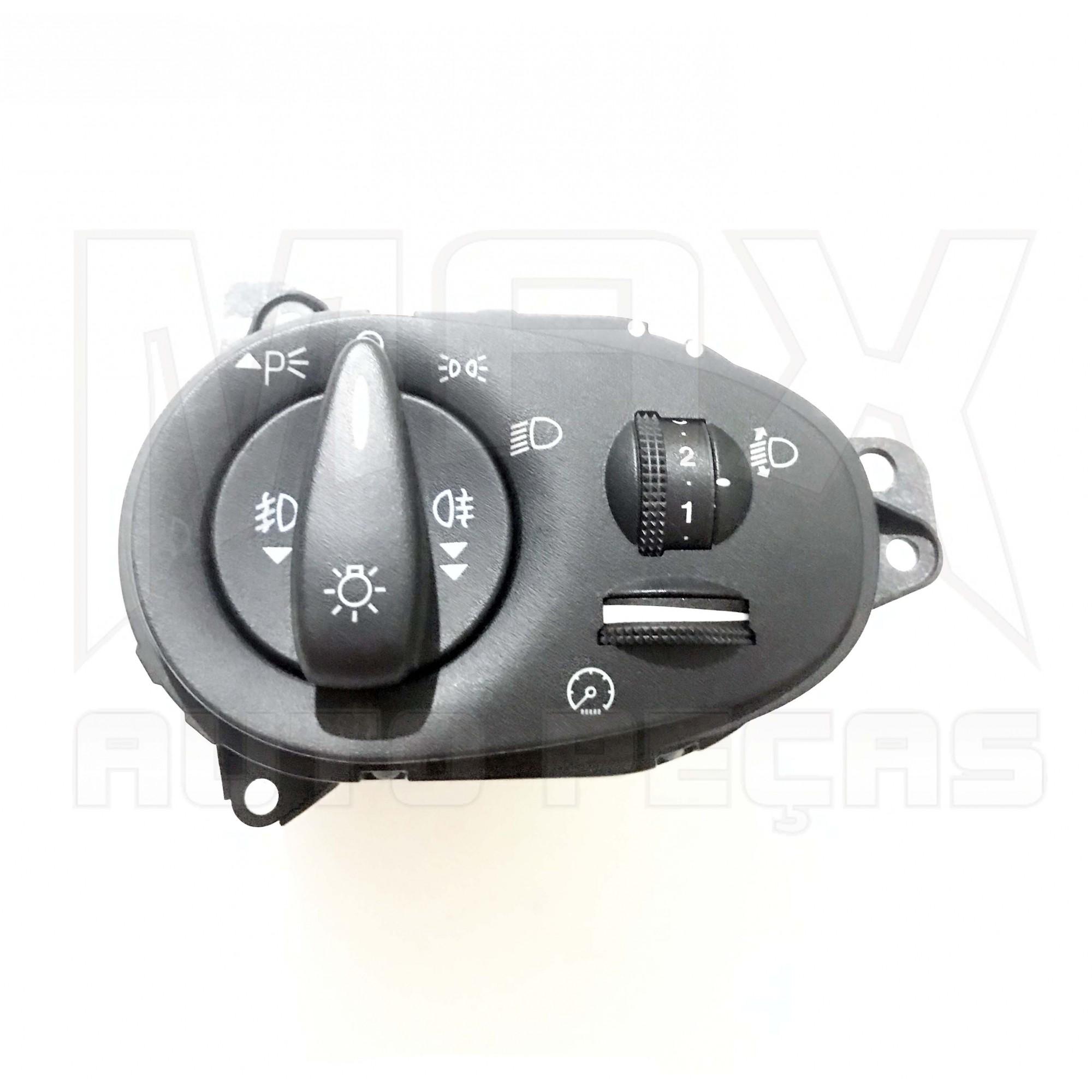 Interruptor Luzes Painel com Reostato e Ajuste Altura Focus 2000 à 2008 Original
