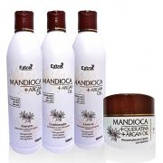 Kit Manutenção Mandioca & Argan 4 Itens