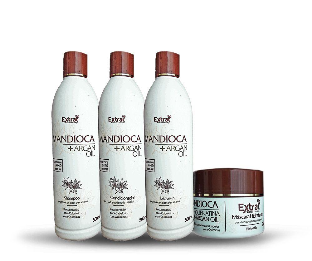 Kit de Manutenção Mandioca & Argan 4 Itens