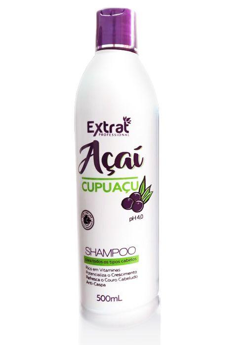 Shampoo de Açai e Cupuaçu 500ml Extrat Professional