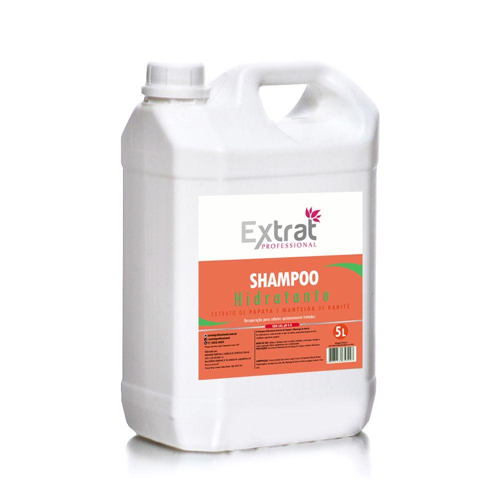Shampoo Extrato de Papaya e Manteiga de Karité  5L Extrat Professional