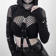 Cropped Gothic Sexy  Capuz