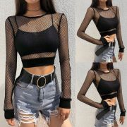 Cropped Top  Goth Arrastão