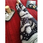 Legging Boho Galaxy Black White
