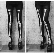 Meia Calça Mechanical Bones -