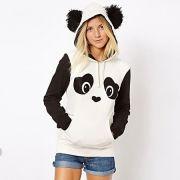 Moletom Panda Capuz Orelhinhas