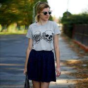 T-Shirt Blind and Deaf Skull