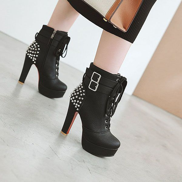Ankle Boots Spikes Arya
