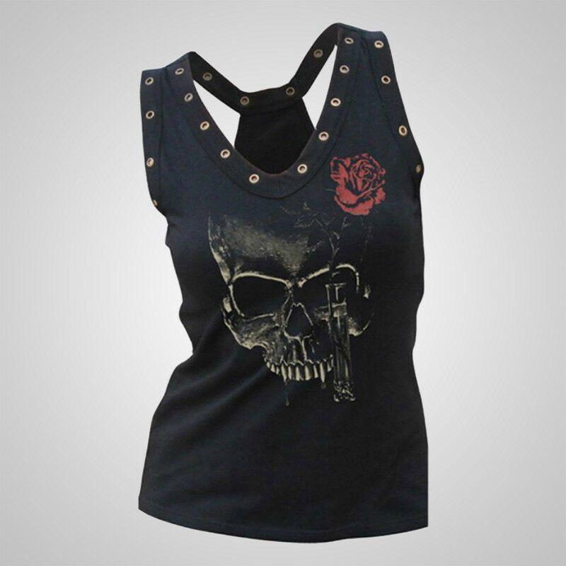 Blusa Gothic Skull Roses