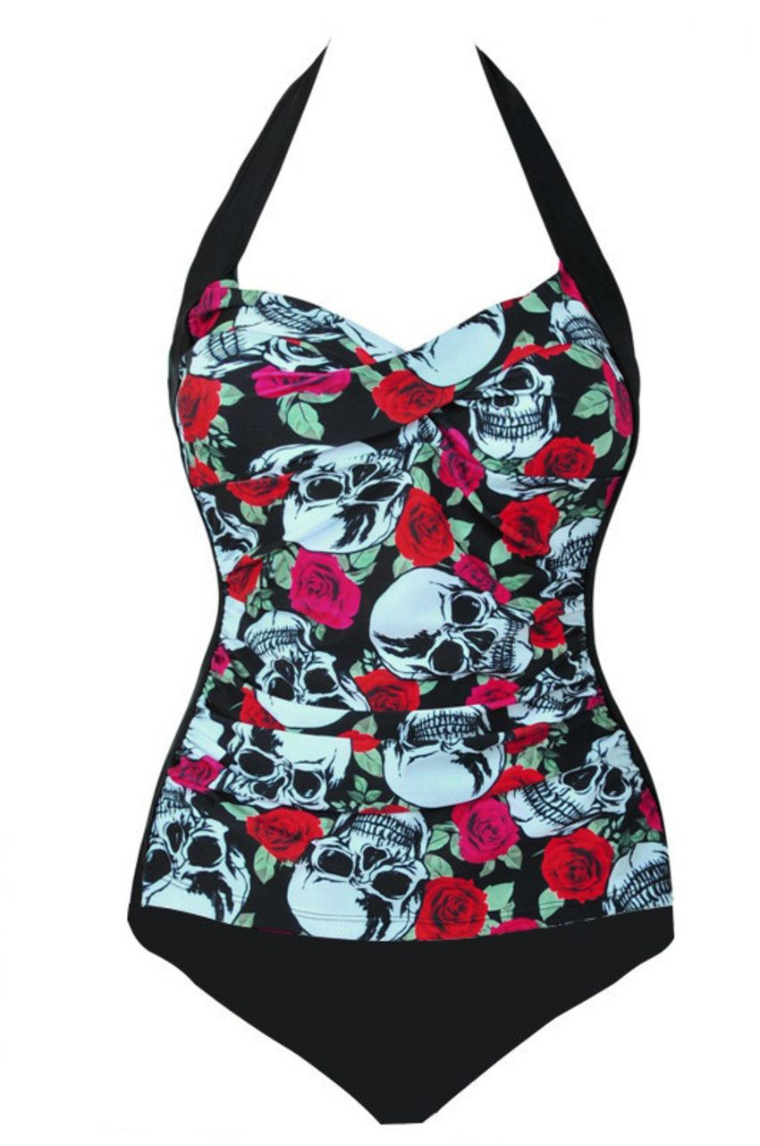 Body e Maiô Skull Lovers Rockabilly