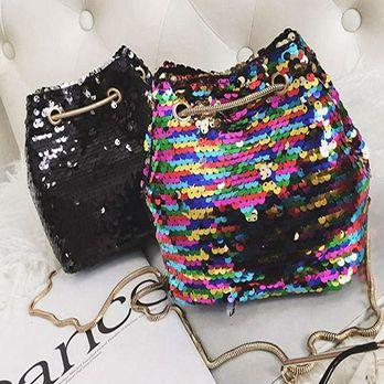Bolsa Paetê Fashion