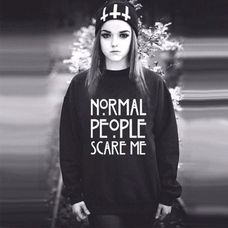 Moletom Normal People Scare Me