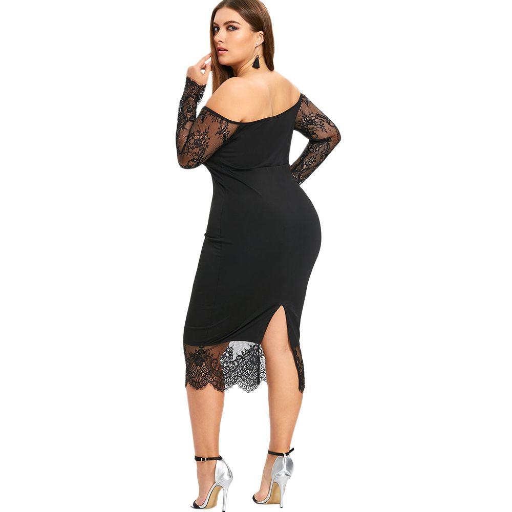 Vestido Preto Slim Plus Size
