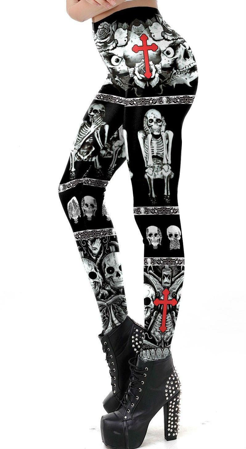 Legging Gothic Cross