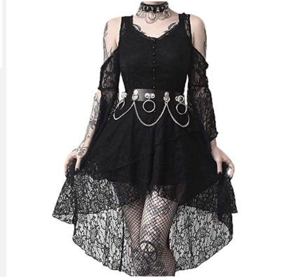 Vestido Eletric Goth