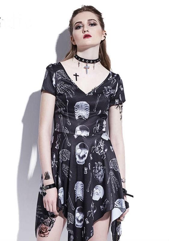 Vestido Gótico Assimétrico