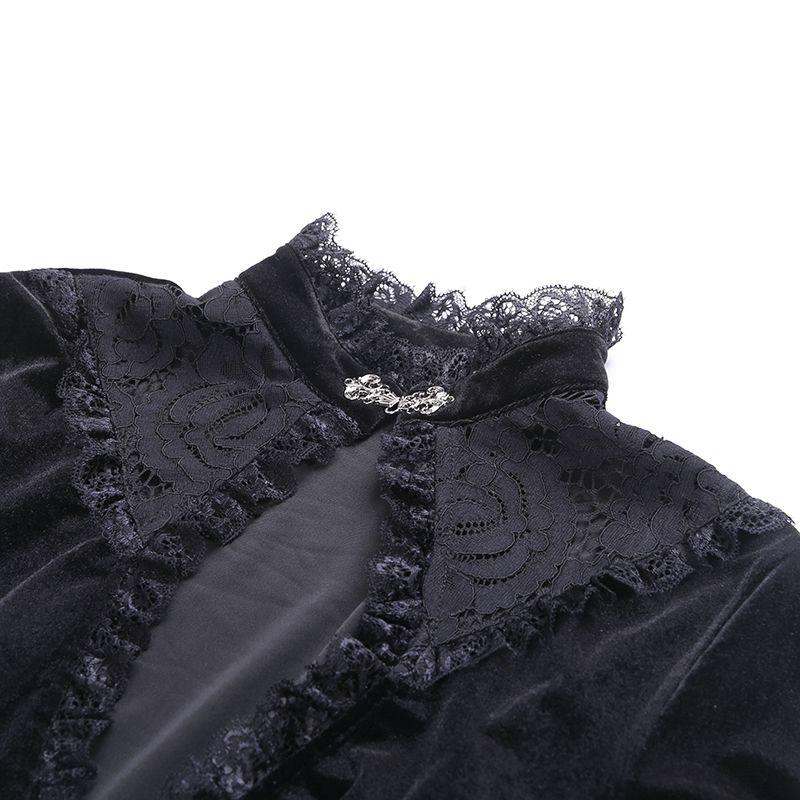 Vestido Gótico Capa de Veludo Ísis