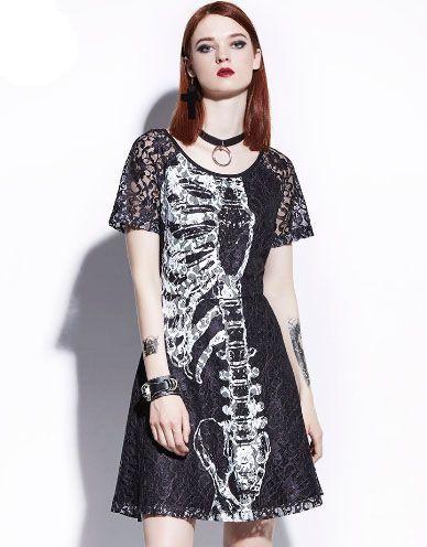 Vestido Preto Renda Skeleton