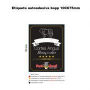 2000 - Etiquetas autoadesiva Bopp 100X75mm para embalagem à vácuo