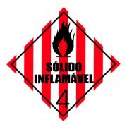 ETIQUETA DE SIMBOLOGIA DE RISCO - SÓLIDO INFLAMÁVEL 4