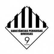 ETIQUETA DE SIMBOLOGIA DE RISCO - SUBSTÂNCIA PERIGOSAS DIVERSAS