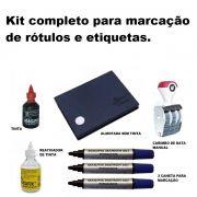 Kit Data de Fabricação/Carimbo+Almofada+Caneta+reativador+tinta Vermelha