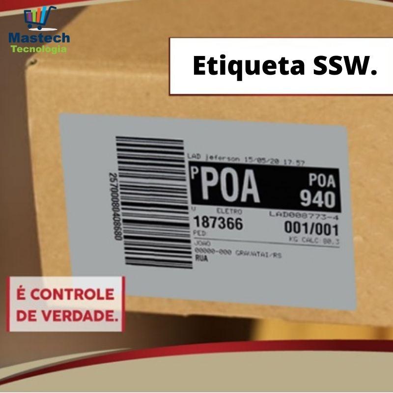 "2000 Etiquetas Adesiva Couche 100X60mm, T:1"", SSW Sistemas."
