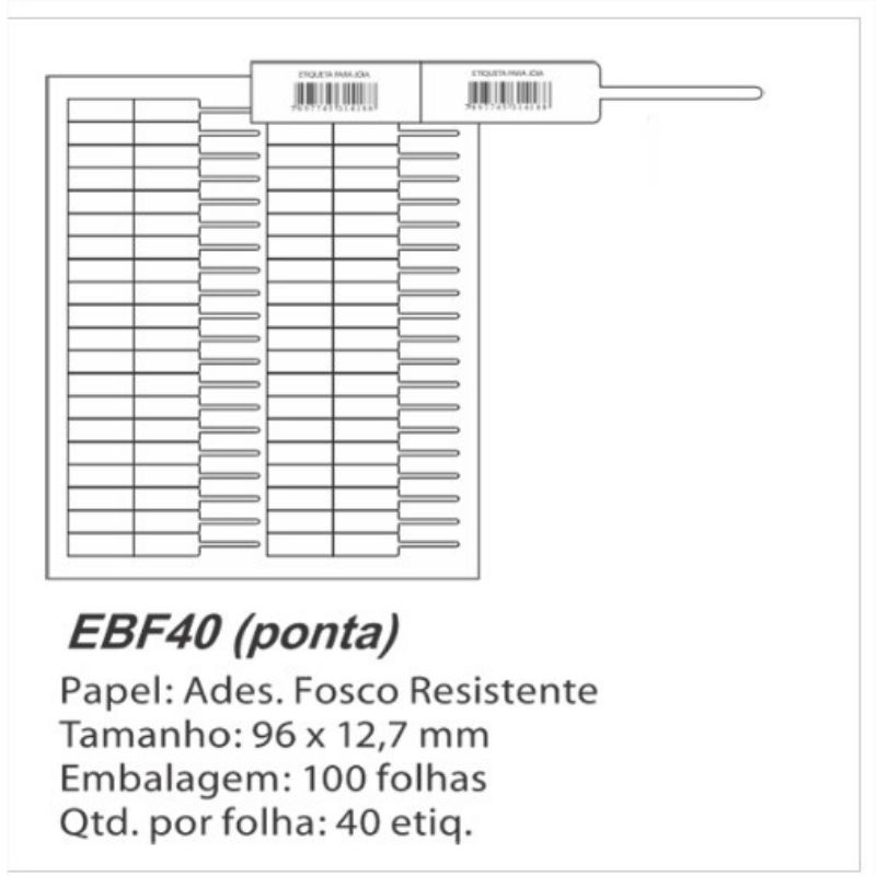 4.000 Etiquetas Colante Para Óculos E Joias EBF40
