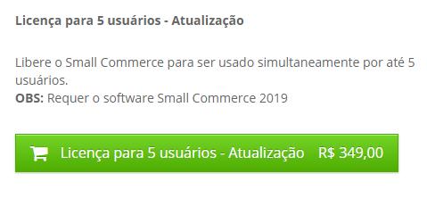 Renovação Small Commerce 2020 5 Licenças