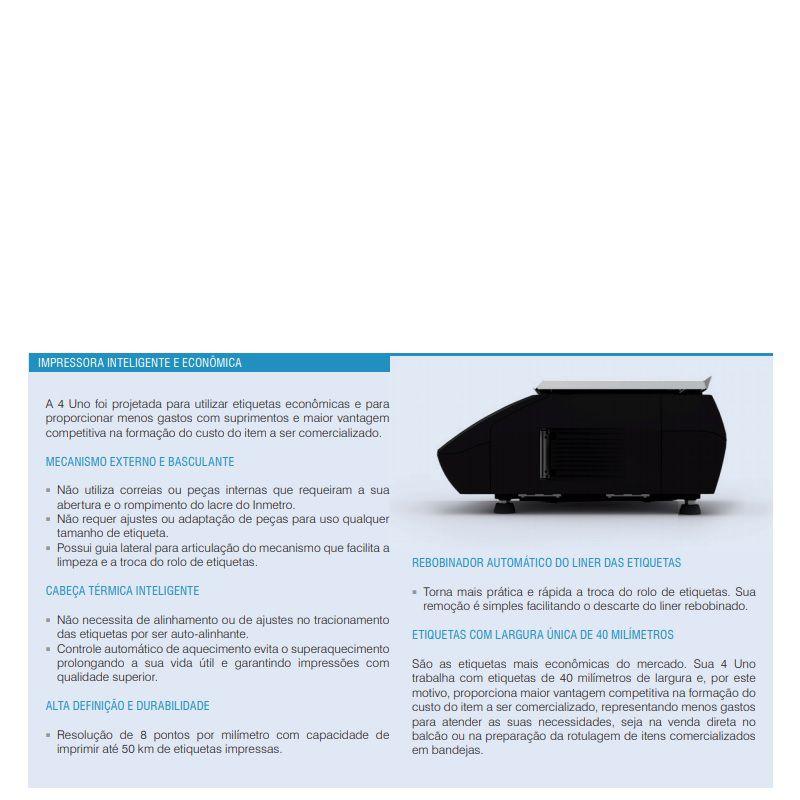 Balança Etiquetadora Toledo Prix 4 Uno Ethernet 15KgX5g