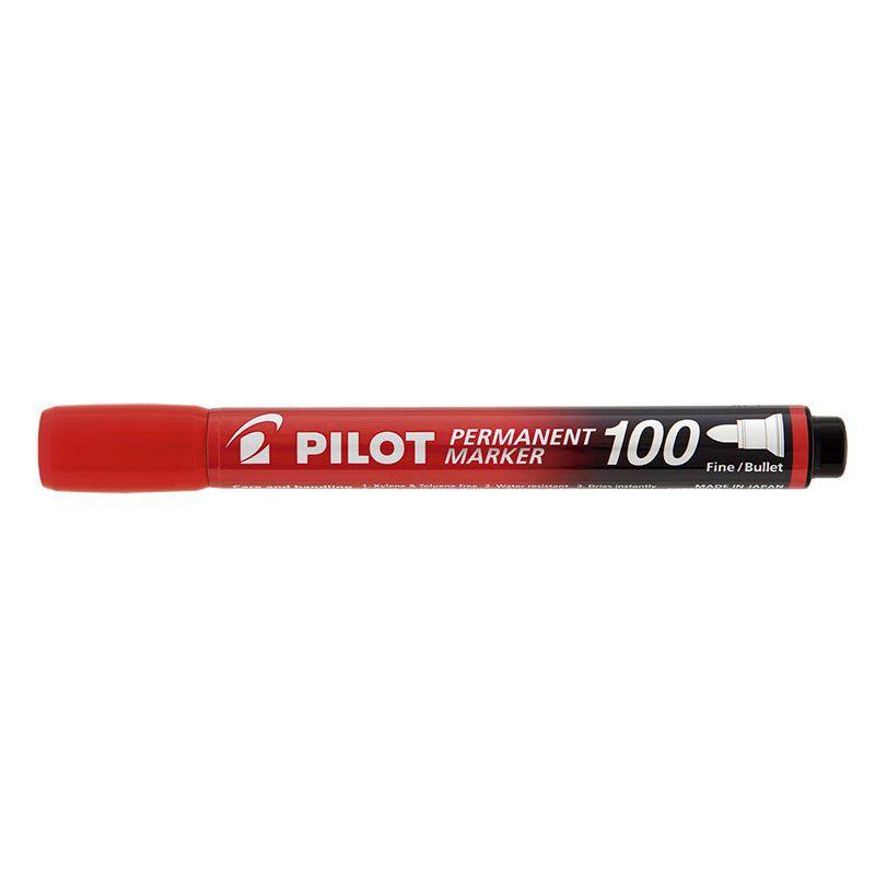 Caneta Pilot marcador permanente Vermelha SCA 100