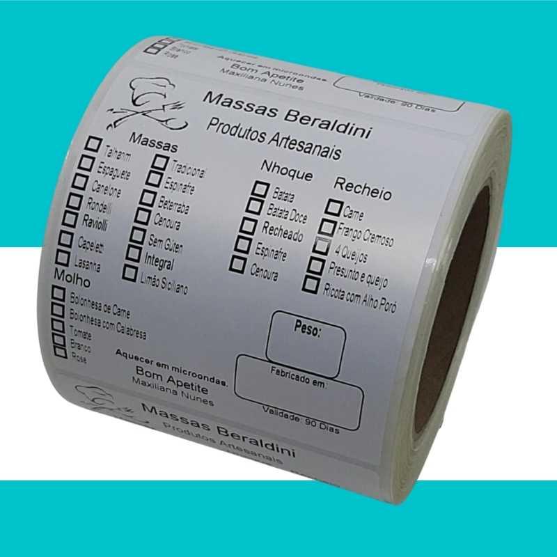 Etiqueta autoadesiva Bopp Fosco 100X100mm impressão em Preto/500 Unidades