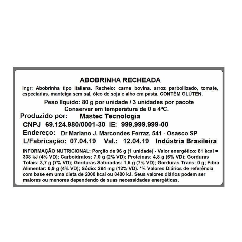 Etiqueta autoadesiva BOPP Fosco 30g, medida 50X90mm(2) - 6.400 etiquetas