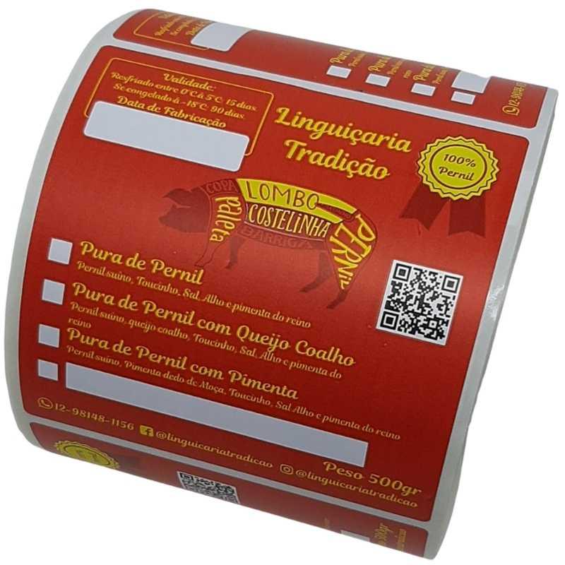 Etiqueta autoadesiva material sintetico para Congelados 100X100mm -1000 Unidades