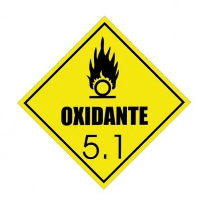 ETIQUETA DE SIMBOLOGIA DE RISCO - OXIDANTE 5.1