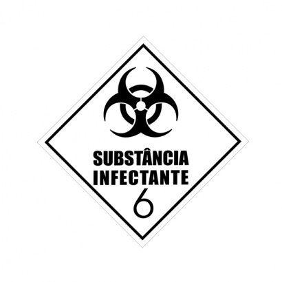 ETIQUETA DE SIMBOLOGIA DE RISCO - SUBSTÂNCIA INFECTANTE 6