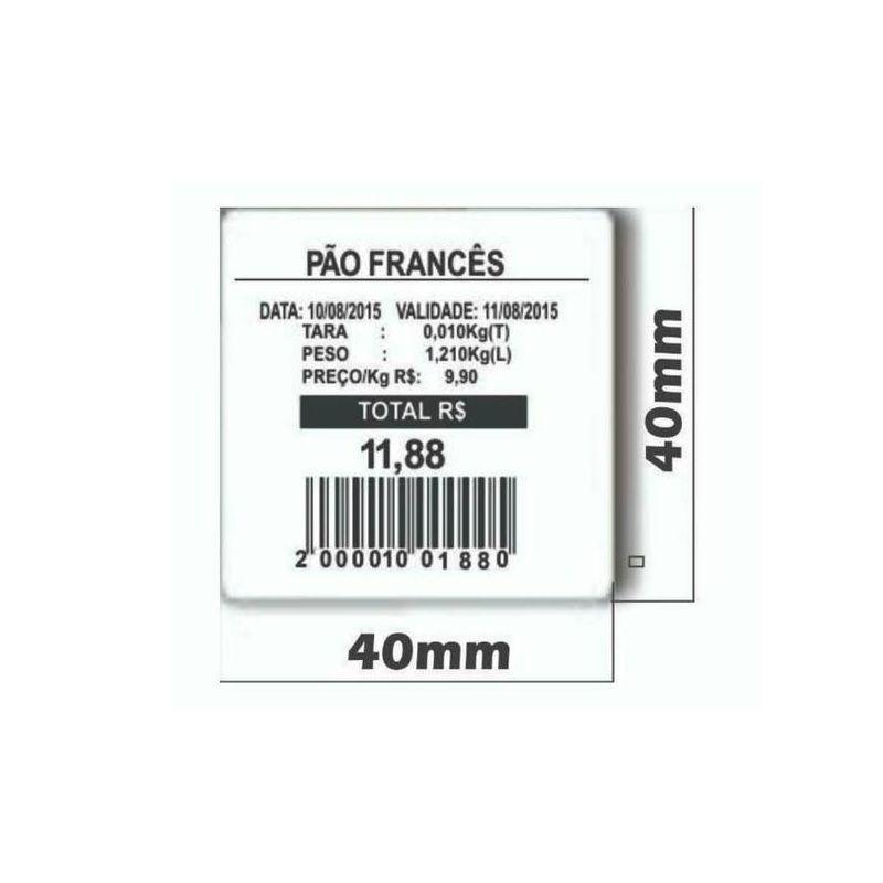 Etiqueta Térmica para balança 40X40mm - Caixa com 60 unidades