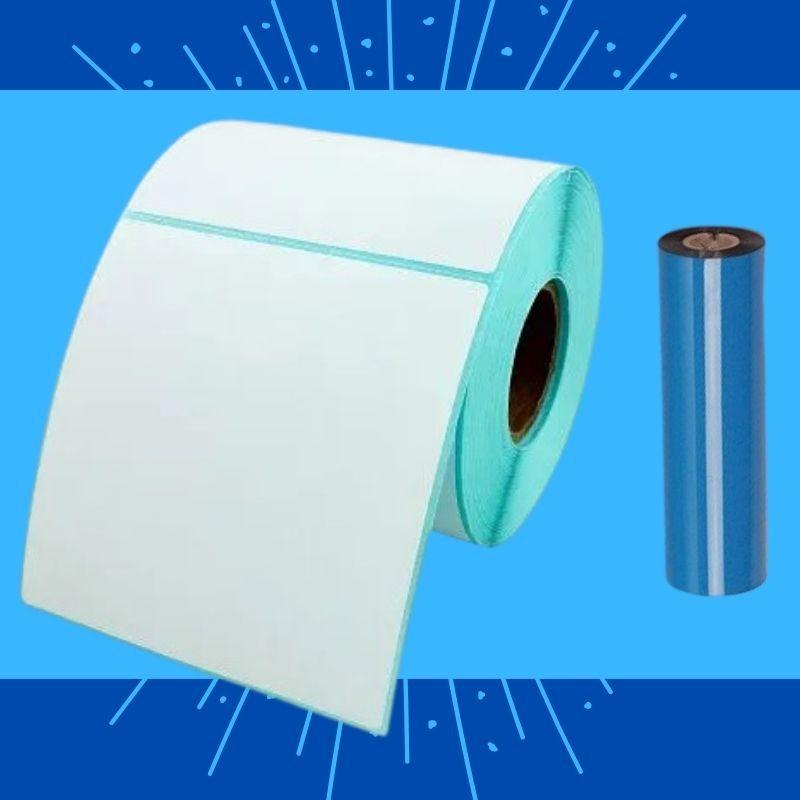 Etiquetas para Congelados + Etiqueta 100X100mm + Fita Ribbon