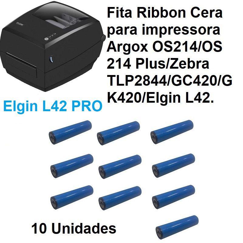 Fita ribbon 110X74 Cera Preto Easy Wax Caixa com 10 Unidades