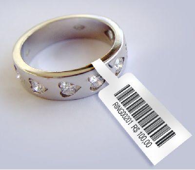 Kit de etiquetas para identificar joias medida 94X10mm # 15.000 etiquetas+2 unidades de fita ribbon