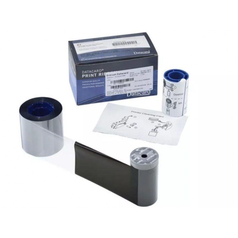 Kit Ribbon Datacard Mono Black/Preto PN.: 534000-005 1000 Impressões