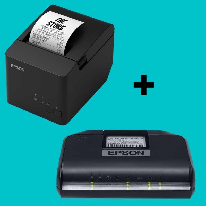 Kit Sat Epson (Impressora Epson TM-T20X/USB/Serial + Sat Epson)/36 meses de garantia
