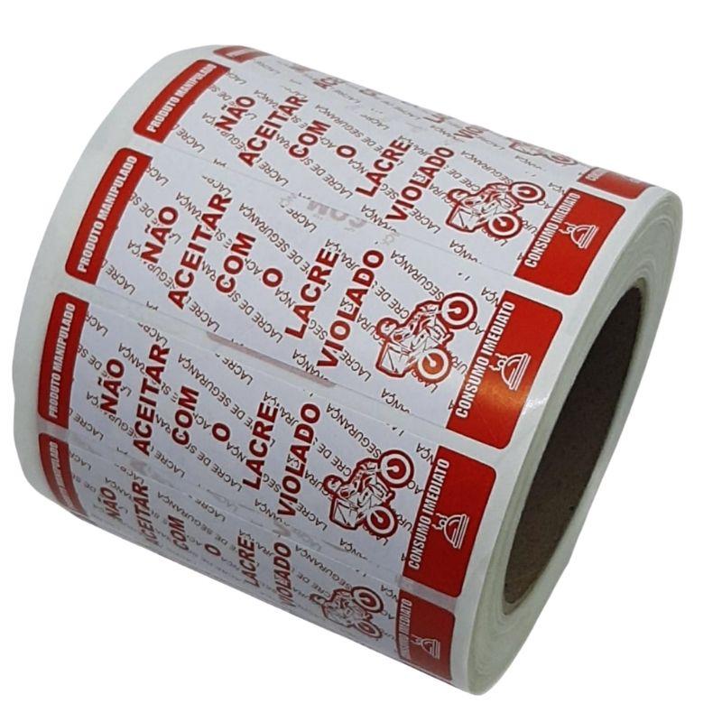 Lacre Delivery Ifood Etiqueta Com Picote Segurança 1000 Unidades