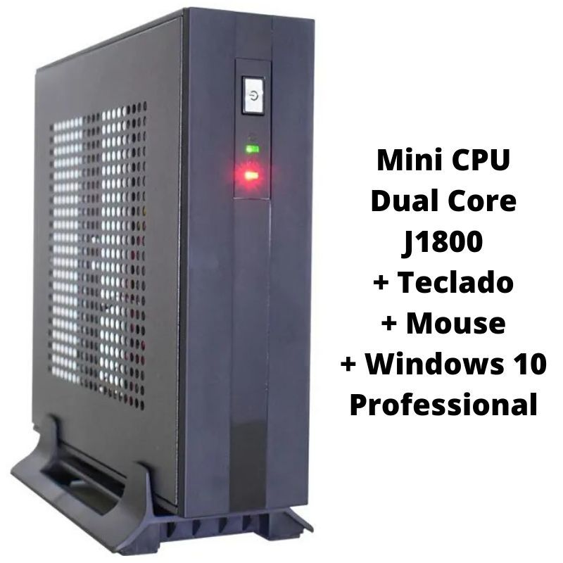 Mini PC Dual Core J1800 4GB SSD120 - Fonte Externa