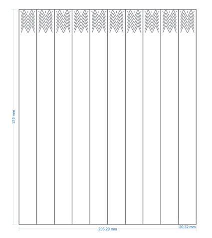 PULSEIRA TYVEC MAXXI BANDS 200X245mm(20X245mm) Caixa com 1000 Unidades