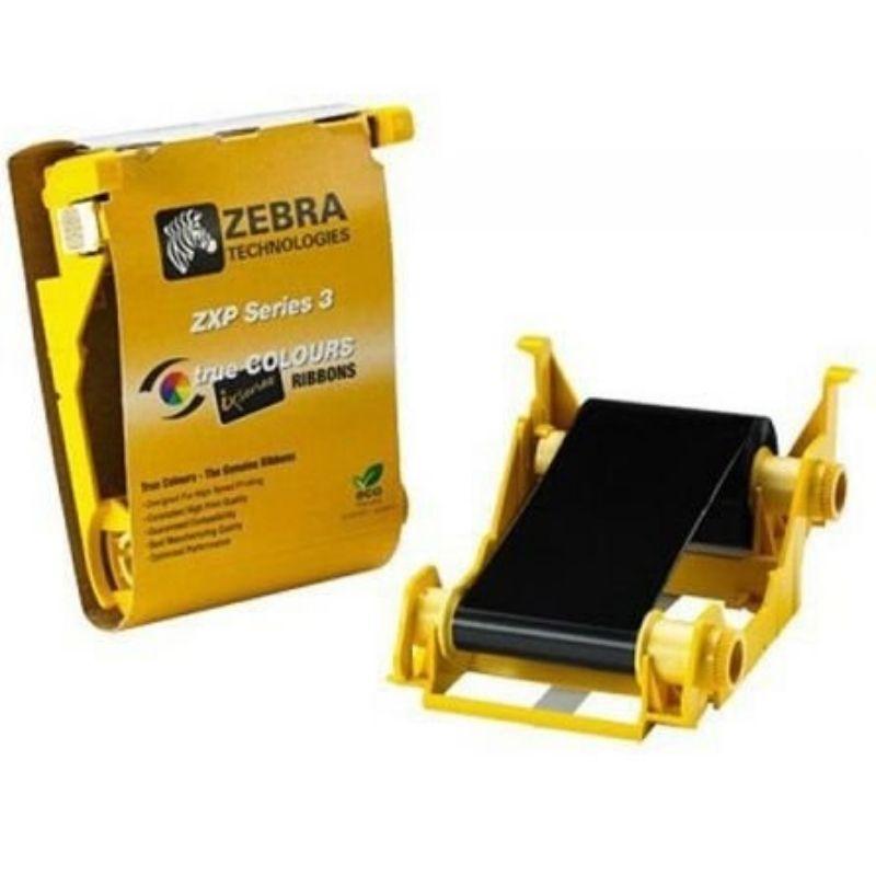 Ribbon Mono Black Zebra ZXP Series 3/ZXP3 - 800033-801 Preto 1000 Impressões Compatível